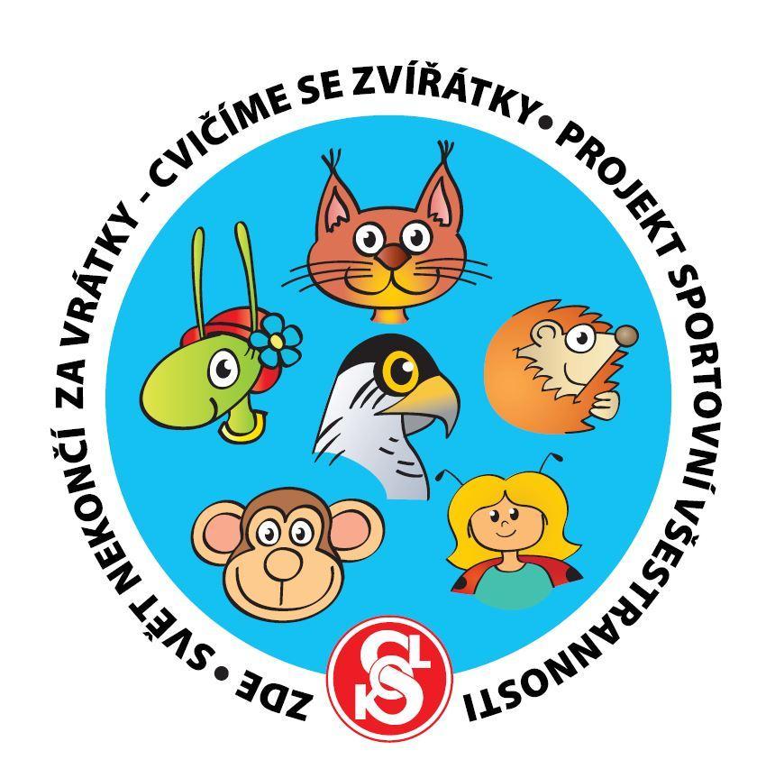 Cvičíme se zvířázky logo